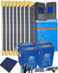 Kit Solar Fotovoltaico 2000W 24V 12800Whdia