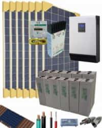 Kit Solar Fotovoltaico 3000W 24V 10675Whdia