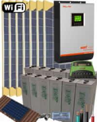 Kit Solar Fotovoltaico 3000W 24V 11200Whdia