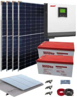 Kit Solar Fotovoltaico 3000W 24V 6400Whdia