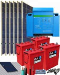 Kit Solar Fotovoltaico 3000W 24V 7800Whdia