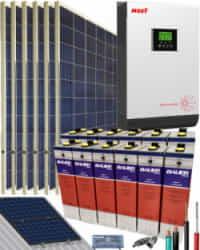 Kit Solar Fotovoltaico 3000W 24V 8100Whdia