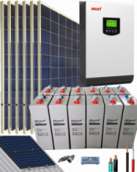Kit Solar Fotovoltaico 3000W 24V 8500Whdia