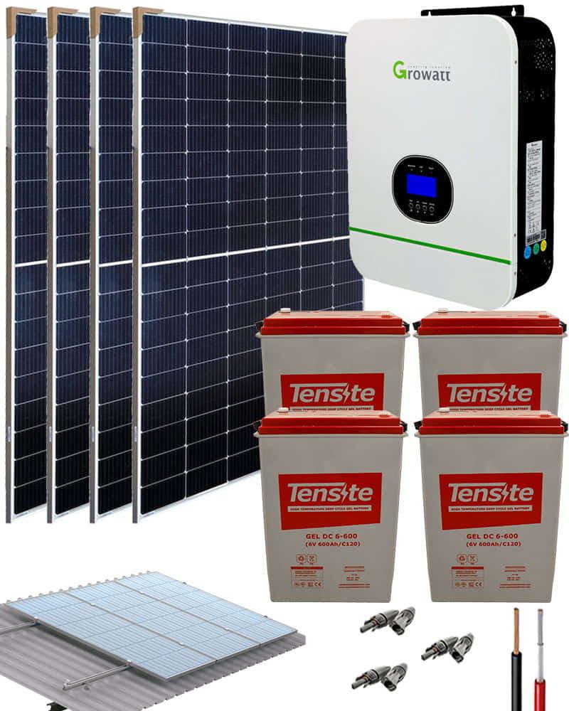 Kit Solar Fotovoltaico 3000W 24V 9000Whdia