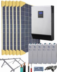 Kit Solar Fotovoltaico 5000W 24V 12200Whdia