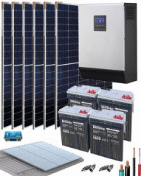 Kit Solar Fotovoltaico 5000W 24V 12800Whdia