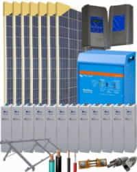 Kit Solar Fotovoltaico 5000W 24V 18300Whdia
