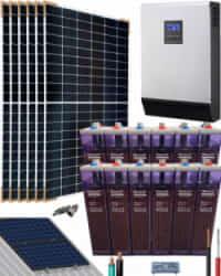 Kit Solar Fotovoltaico 5000W 24V 9600Whdia