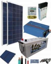 Kit Solar Fotovoltaico 800W 12V 1500Whdia  con inversor Victron