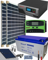 Kit Solar Fotovoltaico 800W 12V 2000Whdia  con batería AGM