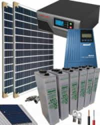 Kit Solar Fotovoltaico 800W 12V 2000Whdia con batería OPzS