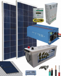Kit Solar Fotovoltaico 800W 12V 2000Whdia  con inversor Victron