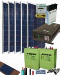 Kit Solar Fotovoltaico Aislada 1400W 12V 3750Whdia