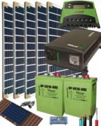 Kit Solar Fotovoltaico Aislada 1400W 12V 5000Whdia