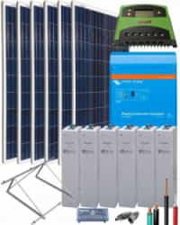Kit Solar Fotovoltaico Aislada 2000W 12V 4500Whdia