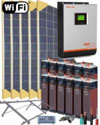 Kit Solar Fotovoltaico Aislada 3000W 24V 8000Whdia