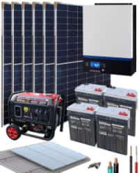 Kit Solar Fotovoltaico Aislada 3000W 24V 9600Whdia