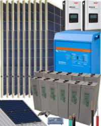 Kit Solar Fotovoltaico Aislada 5000W 24V 16200Whdia