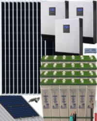 Kit Solar Fotovoltaico Residencial 15000W 48V 57600Whdia