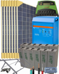 Kit Solar Fotovoltaico Residencial 5000W 24V 11200Whdia