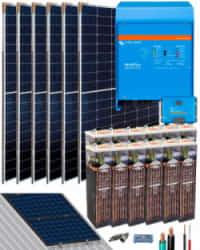 Kit Solar Fotovoltaico Residencial 5000W 24V 12000Whdia