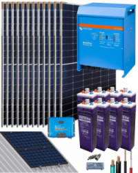 Kit Solar Fotovoltaico Residencial 5000W 48V 22400Whdia