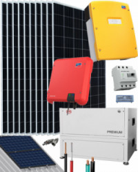 Kit Solar Fotovoltaico Residencial 6000W 48V 19200Whdia