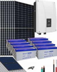 Kit Solar Híbrido 3000W 96V 16000Whdia