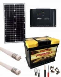 Kit Solar Iluminación 12V 150Whdia