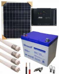 Kit Solar Iluminación 12V 375Whdia