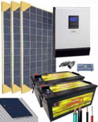 Kit Solar Instalacion Aislada 3000W 24V 4575Whdia