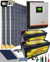 Kit Solar Instalacion Aislada 3000W 24V 4800Whdia