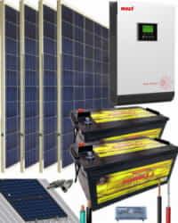 Kit Solar Instalacion Aislada 3000W 24V 5400Whdia