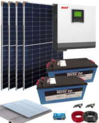 Kit Solar Instalacion Aislada 3000W 24V 6000Whdia