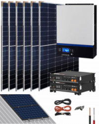 Kit Solar Litio 24V Pylontech 5,6kWh 3000W