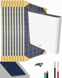 Kit Solar Litio 3000W 16500Whdia con 6kWh de batería