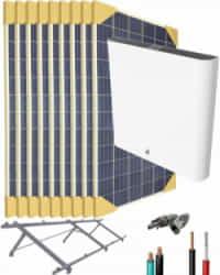 Kit Solar Litio 3000W 17600Whdia con 6kWh de batería