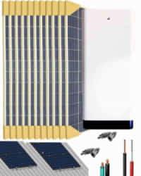 Kit Solar Litio 3000W 33000Whdia con 12kWh de batería