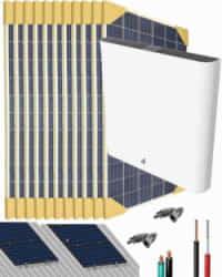 Kit Solar Litio 3000W 33000Whdia con 6kWh de batería