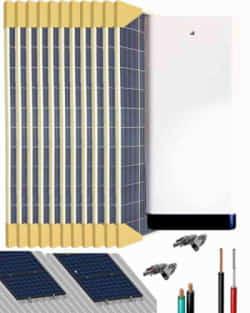 Kit Solar Litio 5000W 33000Whdia con 12kWh de batería