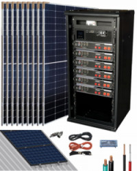Kit Solar Litio Pylontech 14kWh 5000W 18500Whdia