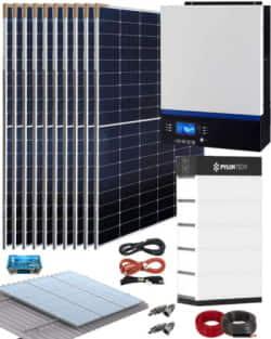 Kit Solar Litio Pylontech 18kWh 5000W 19800Whdia
