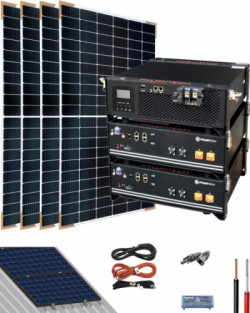 Kit Solar Litio Pylontech 4,8kWh 3000W 6600Whdia