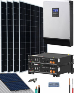 Kit Solar Litio Pylontech 4,8kWh 3000W 7400Whdia