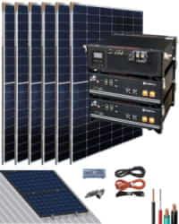 Kit Solar Litio Pylontech 4,8kWh 3000W 9000Whdia