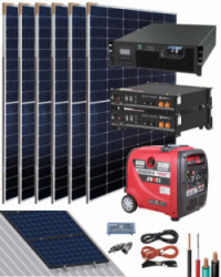 Kit Solar Litio Pylontech 4,8kWh 3000W 9900Whdia