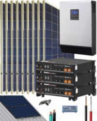 Kit Solar Litio Pylontech 7,2kWh 3000W 12600Whdia