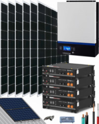 Kit Solar Litio Pylontech 9kWh 5000W 8100Whdia