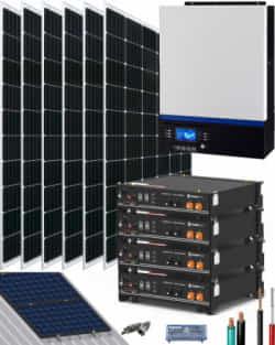 Kit Solar Litio Pylontech 9kWh 5000W 8100Whdia