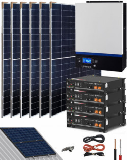 Kit Solar Litio Pylontech 9kWh 5000W 9500Whdia